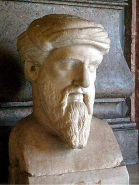 Pythagoras of Samos (Πυθαγόρας ὁ Σάμιος)Ancient Greek Philosopher and Mathematician. (Photo Credit: Wikipedia.org